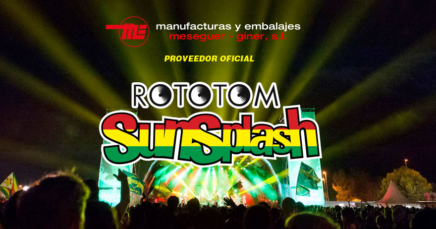 Manufacturas y embalaje proveedor Rototom Festival
